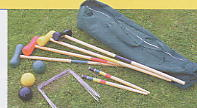 full size wooden english croquet set